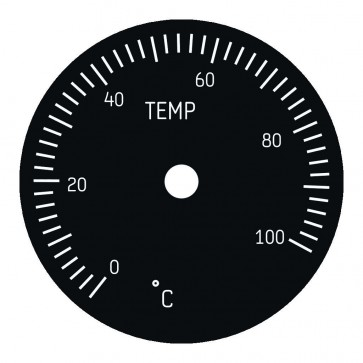 Zifferblatt für 49mm Cabin Temperature Instrument