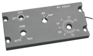 A320 Weather Radar ohne Hardware - beleuchtet