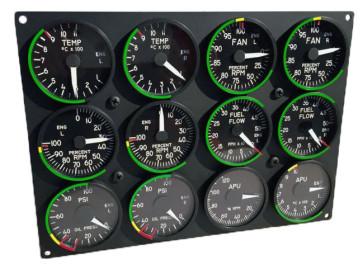 Engine Cluster für A-10C Cockpit