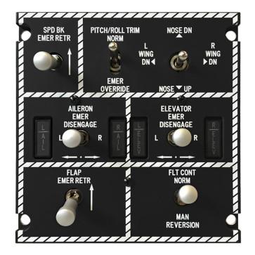Emergency Flight Control Panel - inkl. Hardware