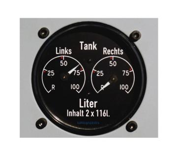 Treibstoffanzeiger 2x116 L PRO
