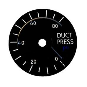 Zifferblatt für 49mm Duct Pressuristarion Instrument - Details