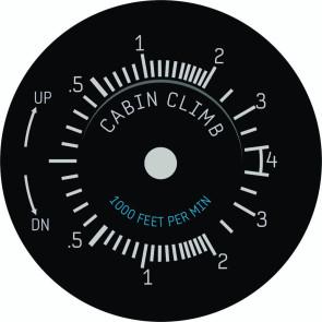 Zifferblatt für Cabin Climb Instument 49mm
