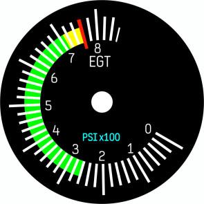 Zifferblatt 49mm für EGT / APU Instrument