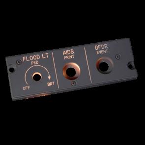 A320 Dimmer Panel FO - beleuchtet
