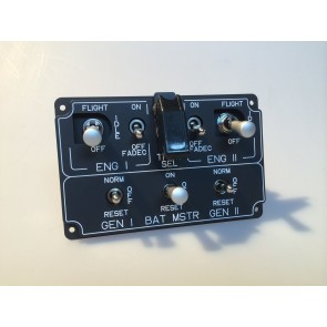 EC135 Main Switch Panel - Frontansicht