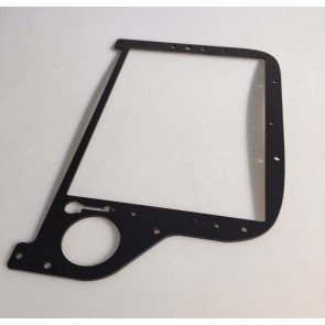 EC 135 Main Instument Panel rechts - matt schwarz lackiert - Front