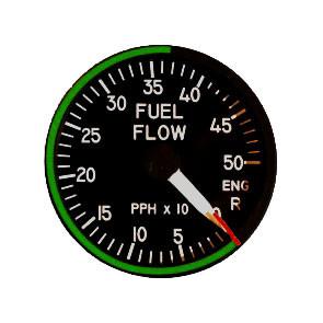 """49mm / 2"""" Right Engine Treibstoffdurchfluss Indicator"""