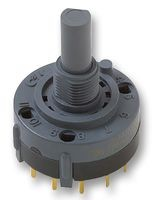 Rotary switch three positions 1 pole index 60°