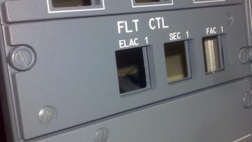 Airbus Overhead Panel FLT Control - left