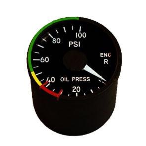 "2"" / 49mm right engine oil pressure Indicator"