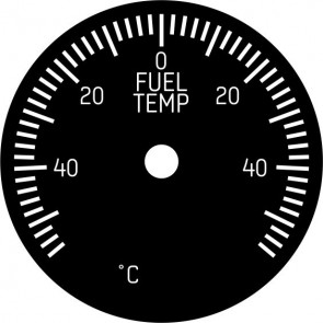 Face Plate for 49mm Fuel Temperature Instrument