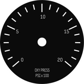 Face Plate 39mm Passenger Oxygen Press Instrument