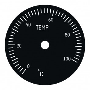 Faceplate for 49mm Cabin Temperature Instrument