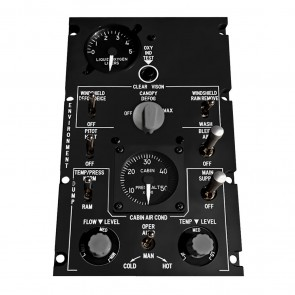 Environment Control Panel for A-10C Cockpit  - incl. Hardware