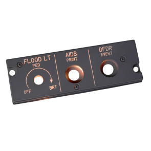 A320 Dimmer Panel FO - backlighted