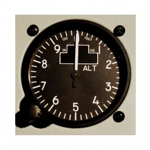 Altimeter sigle pointer with OLED STD Type 1