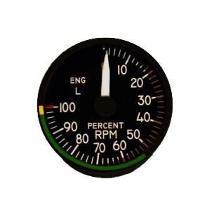 "2"" / 49mm left engine RPM Indicator"