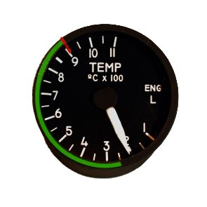 "2"" / 49mm left engine temperature Indicator"