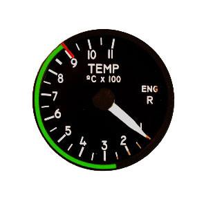 """49mm / 2"""" Right Engine Temperatur Indicator"""